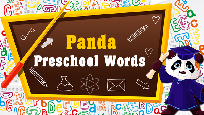 Panda Preschool Words